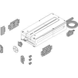 SERVO-DRIVE flex Jednostka napędu do lodówek, zamrażarek i zmywarek, Zestaw z jednostką napędu i akcesoriami montażowymi,