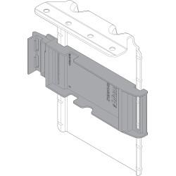 górny uchwyt napędu SERVO-DRIVE z zamontowanym adapterem, stal, R737ciemnoszary/cynk