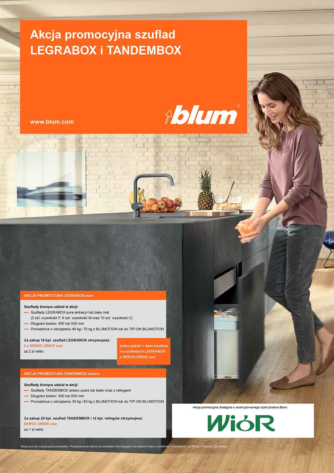Promocja na szuflady Blum 2017