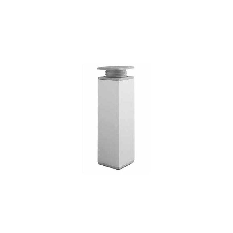 Nóżka meblowa kwadratowa h - 100 mm aluminium + tworzywo