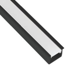 Profil aluminiowy czarny do taśmy LED INSIDE LINE MINI 2m do wpustu klosz mleczny