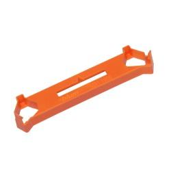 ECODRILL, Dodatkowy element do obróbki drzwi składanych, wiercić pionowo, pomarańczowe