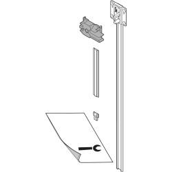 CABLOXX  Zestaw listwy zamka (listwa zamka, element dystansowy do przycięcia, końcówka zamka, mocowanie zamka, wzornik wierta