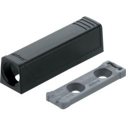 Adapter TIP-ON do drzwi, prosty (20/17 mm), czarna
