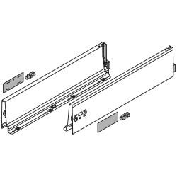Bok szuflady TANDEMBOX, wys. K (115 mm), dł. 350 mm, lewy/prawy, do TANDEMBOX antaro, R9006 szara