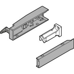 CABLOXX  Zestaw zaczepu (zaczep zamka, mocowanie zaczepu zamka, zaślepka zaczepu zamka), ciemnoszary mat