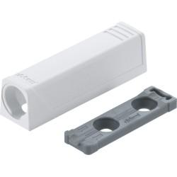 Adapter TIP-ON do drzwi, prosty (20/17 mm), biała