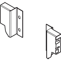 Komplet mocowań ścianki tylnej wysokość M szare - Z30M000S Blum