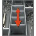 Wkład na sztućce SCOOP II szary do szuflady 400 mm - Peka 07.62.SL