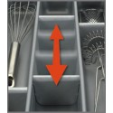 Wkład na sztućce SCOOP II szary do szuflady 800 mm - Peka 07.66.SL