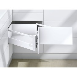 Szuflada Space Corner Tandembox Antaro biała L-650 wysokość D Blum